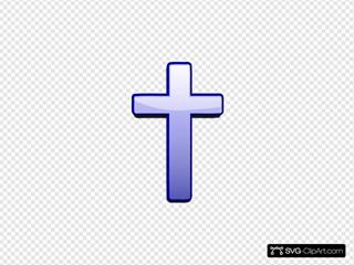Blue Gradient Cross