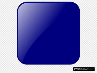 Blank Navy Blue Button