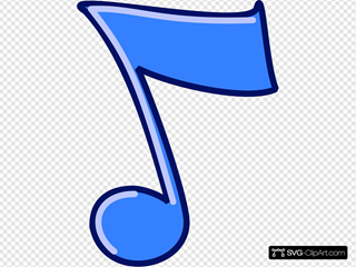 Blue Musical Note