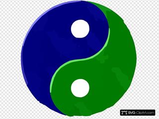 Yinyang Bluegreentextured