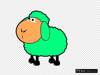 Green/blue Sheep