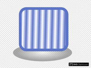 Square Blue  Button Clipart
