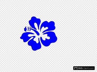Blue Tropical Flower
