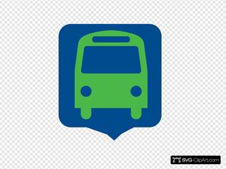 Bus Stop (transit - Blue)