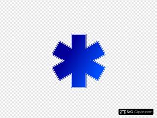 Blue Medical Cross