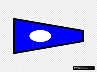 Blue Signal Flag With White Spot