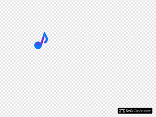 Purple And Blue Music Note