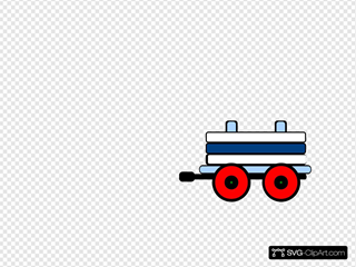 Toot Toot Train Carriage SVG Clipart