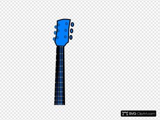 Guitar Flower Blue