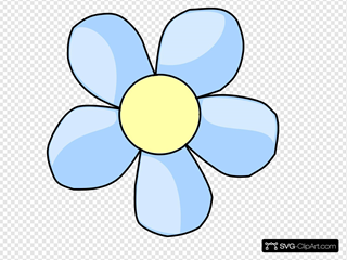 Clear-blue Flower