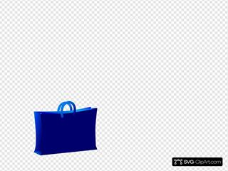 Blue Bb Shopping Bag