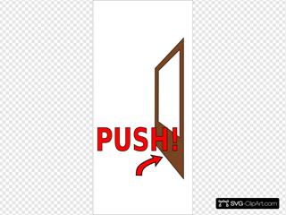 Sign Push The Door