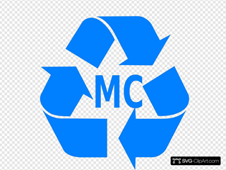 Blue Recycling Logo