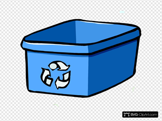 Recycle Bin Blue Clipart