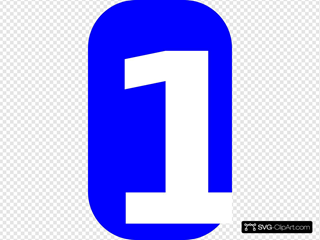 White Blue Rounded Rectangle