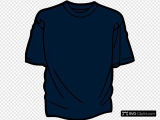 T Shirt Template Dark Blue