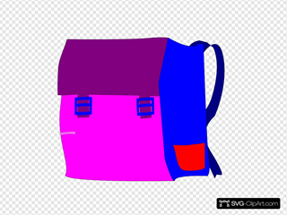 Pink And Purple Backpack