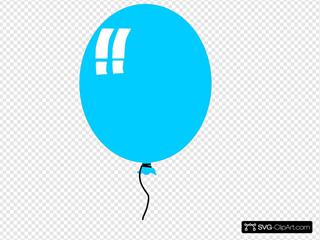 Helium Blue Balloon