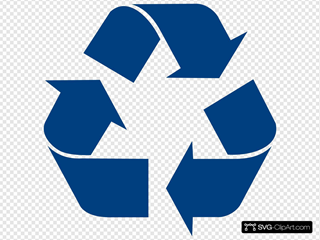 Blue Recycle Arrows