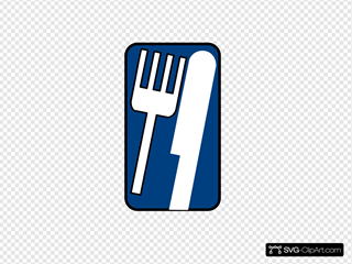 Blue-knife-fork