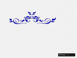 Swirl Blue Florish