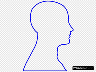 Royal Blue Head Sillouette