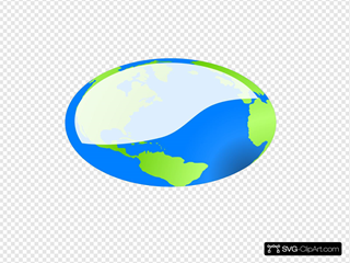 Vector Earth Oval Stretch