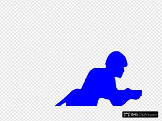 Blue Toy Soldier