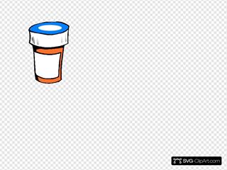 Pharmacy Bottle Clip Art - Blue Lid