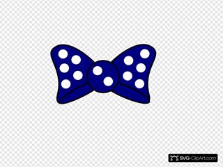 Minnie Blue  Bow