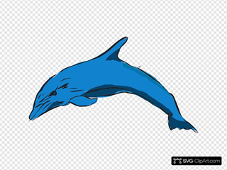 Blue Leaping Dolphin