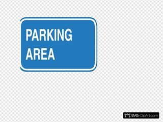 Blue Blank Parking Sign