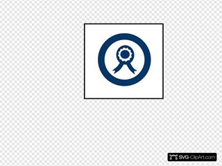 Blue Ribbon Circle Clipart
