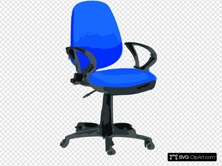 Blue Desk Chair With Wheels