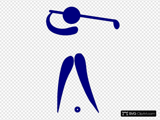 Blue Golf Player