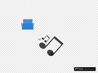 Blue Music Folder