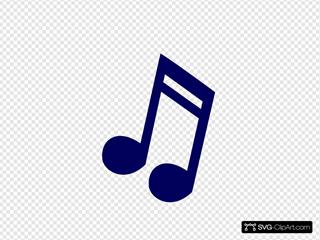 Dark Blue Music Note