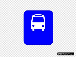 Bus Stop Blue