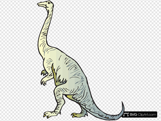 Yellow And Blue Long Necked Dinosaur