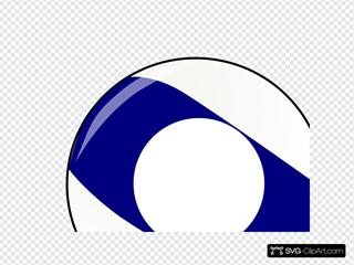 Blue Stripe Billiard Ball