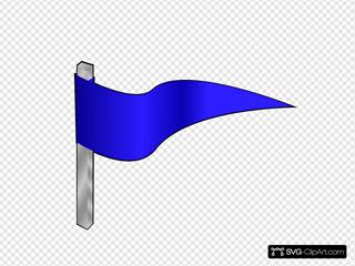 Simple Flag On A Pole