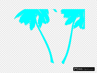 Vector Palm Trees Blue