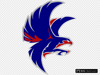Falcon Blue And Red