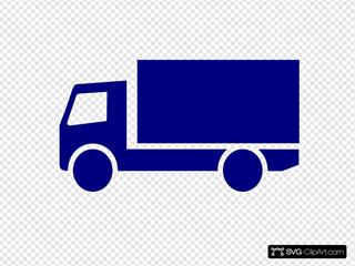Dark Blue Truck