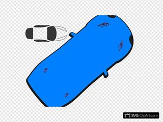 Blue Car - Top View - 40
