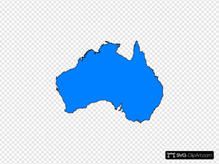 Australia Map Svg.Australia Map Yellow Clip Art Icon And Svg Svg Clipart