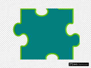 Blue-green Puzzle Piece