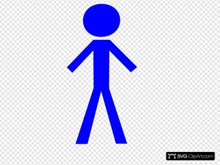 Male Purple Stick Figure