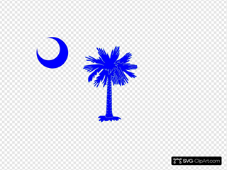 Sc Palmetto Tree - Blue