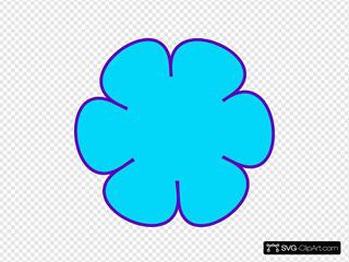 Blue Flower Purple